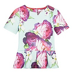 Baker by Ted Baker - Girls' light green floral print top