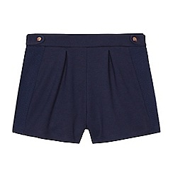 Baker by Ted Baker - Girls' navy ponte zip-through shorts