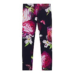 Baker by Ted Baker - Girls' navy floral print leggings