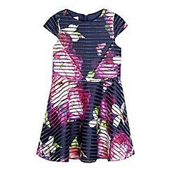 Baker by Ted Baker - Girls' navy mesh floral dress