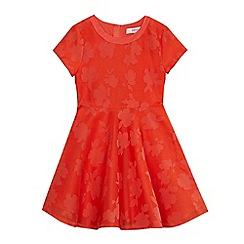 Baker by Ted Baker - Girls' orange perforated floral dress