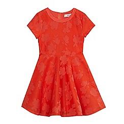 Baker by Ted Baker - Girls' orange perforated floral dress
