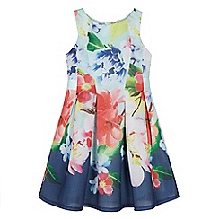 Baker by Ted Baker - Girls' light green floral print dress