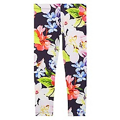 Baker by Ted Baker - Girls' multi-coloured floral print leggings