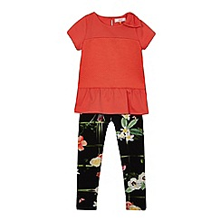 Baker by Ted Baker - Girls' orange pleated top and leggings set
