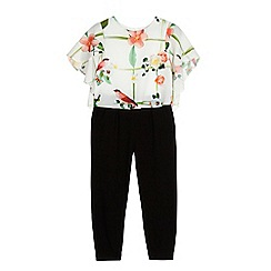 Baker by Ted Baker - Girls' white floral print jumpsuit