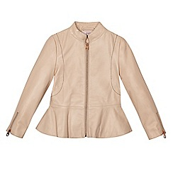 Baker by Ted Baker - Girls' light pink leather jacket