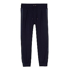 Baker by Ted Baker - Girls' navy ribbon side trousers