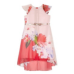 Baker by Ted Baker - Girls' pink floral print belted dress