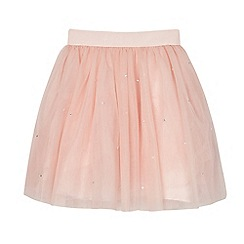 Baker by Ted Baker - Girls' light pink diamante tulle skirt