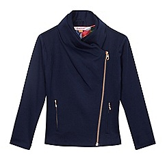 Baker by Ted Baker - Girls' navy ponte biker jacket