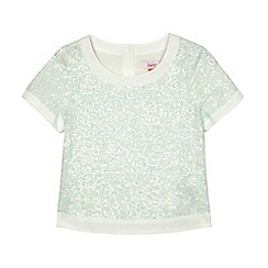 Baker by Ted Baker - Girls' green sequinned top