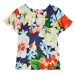 Baker by Ted Baker - Girls' multi-coloured floral print top