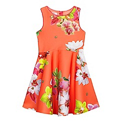 Baker by Ted Baker - Girls' orange floral print dress