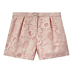 Baker by Ted Baker - Girls' light pink floral lace shorts