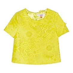 Baker by Ted Baker - Girls' yellow floral lace top