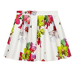 Baker by Ted Baker - Girls' white floral print scuba skirt