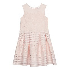 Baker by Ted Baker - Girls' light pink lace mesh dress