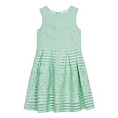 Baker by Ted Baker - Girls' light green floral lace dress