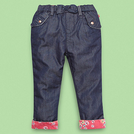 Baker by Ted Baker - Babies blue lined chambray trousers