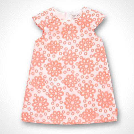 Baker by Ted Baker - Babies pink fluorescent broderie dress