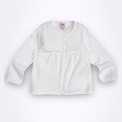 Baker by Ted Baker - Babies white pleat front cardigan