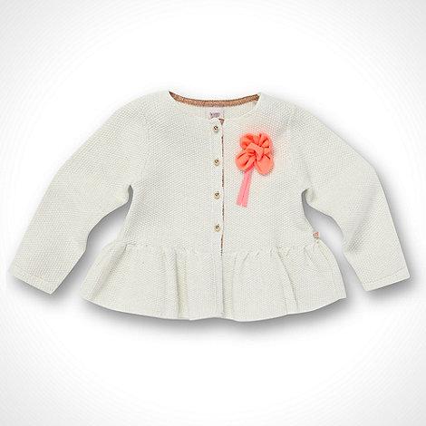 Baker by Ted Baker - Babies cream glitter peplum cardigan
