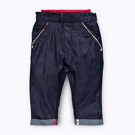 Baker by Ted Baker - Babies dark blue chambray trousers