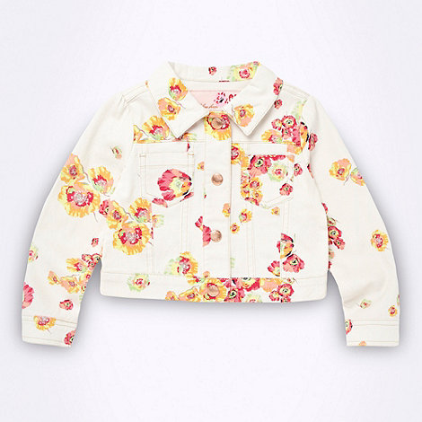 Baker by Ted Baker - Babies white floral denim jacket