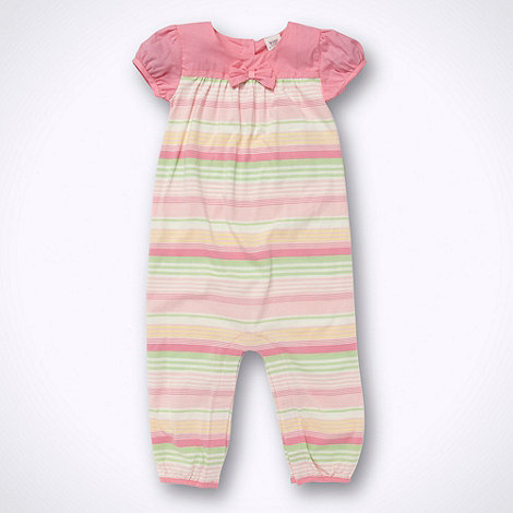 Baker by Ted Baker - Babies pink striped romper suit