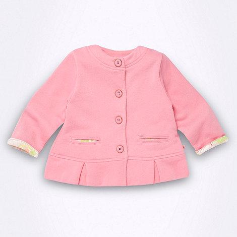 Baker by Ted Baker - Babies pink peplum hem sweat jacket