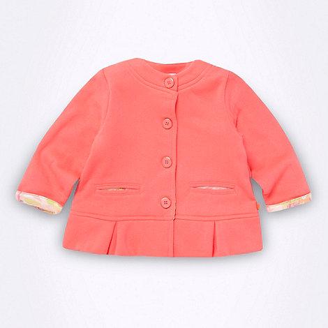 Baker by Ted Baker - Babies neon pink peplum hem sweat jacket