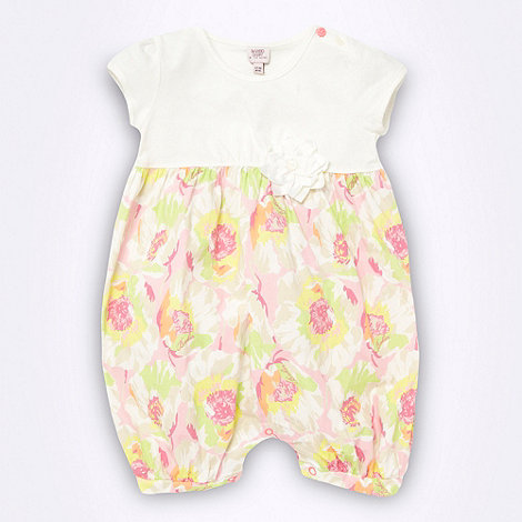 Baker by Ted Baker - Babies white floral romper suit