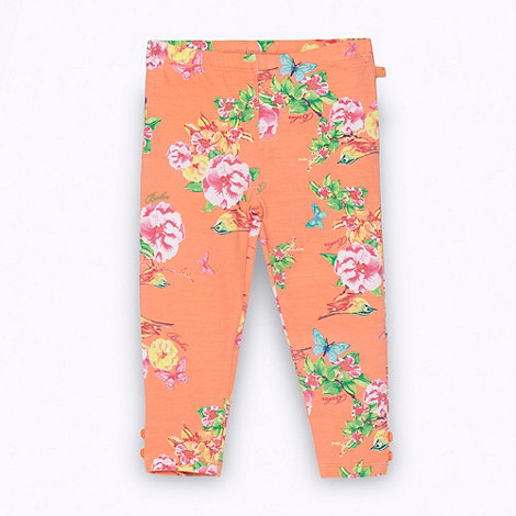 Baker by Ted Baker - Babies orange floral leggings