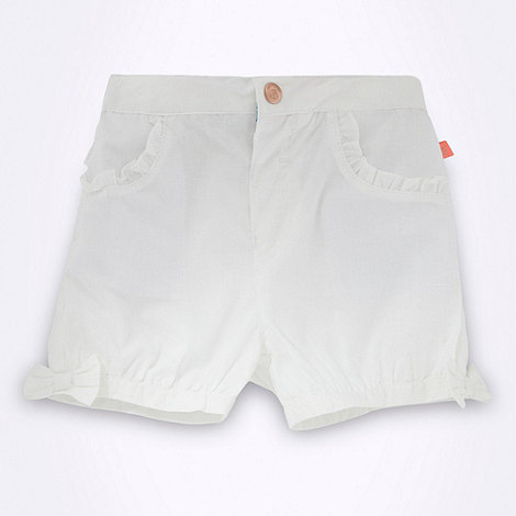 Baker by Ted Baker - Babies white frilly trimmed shorts