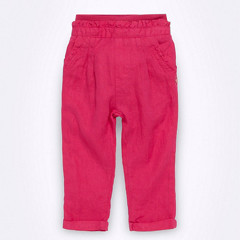 Baker by Ted Baker - Babies bright pink linen trousers