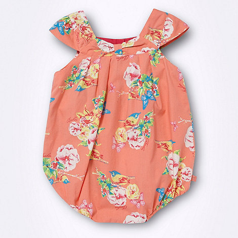Baker by Ted Baker - Babies peach tropical floral bodysuit