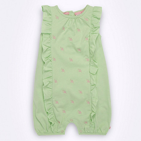 Baker by Ted Baker - Babies green frill romper