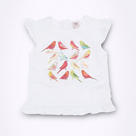 Baker by Ted Baker - Babies white bird print t-shirt