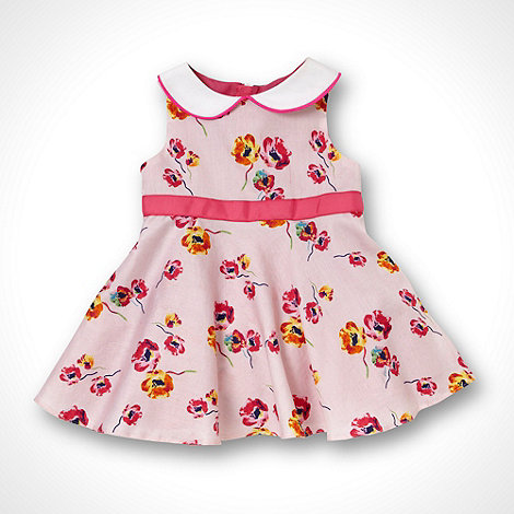 Baker by Ted Baker - Babies pink flower printed party dress