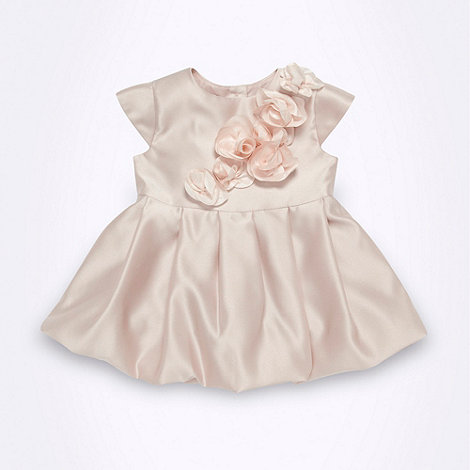 Baker by Ted Baker - Babies pale pink rose applique party dress