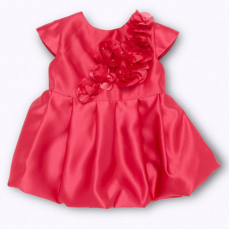 Baker by Ted Baker - Babies dark pink rose applique party dress