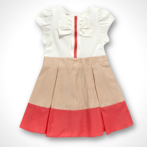 Baker by Ted Baker - Babies pink woven colour block dress