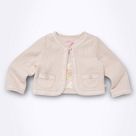 Baker by Ted Baker - Babies pink boucle cropped jacket
