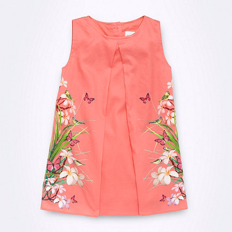 Baker by Ted Baker - Babies orange mirrored floral dress