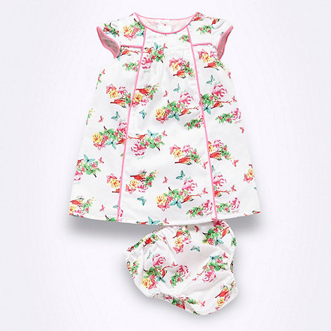 Baker by Ted Baker - Babies white floral patterned dress