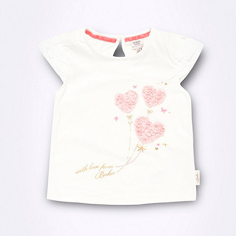 Baker by Ted Baker - Babies cream rose applique top