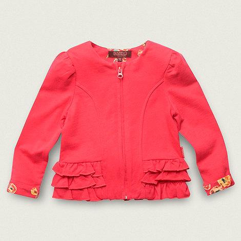 Baker by Ted Baker - Girl+s red jersey peplum ruffled jacket