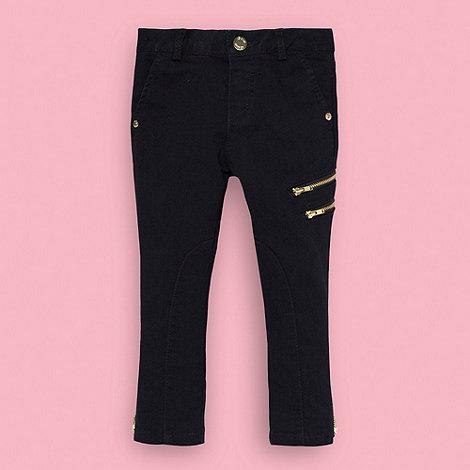 Baker by Ted Baker - Girl+s dark blue zip cuff skinny jeans