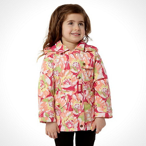 Baker by Ted Baker - Girl's pink floral belted mac